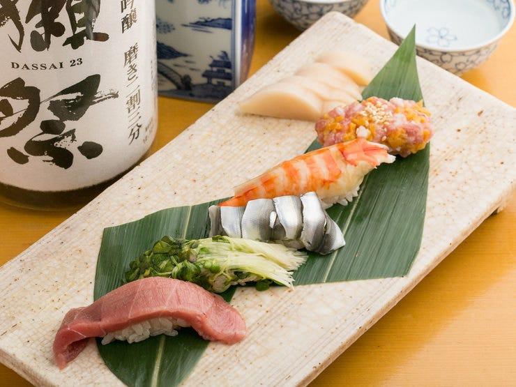 自慢のお寿司・創作和食をご堪能