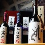 創作和食に合う日本酒を店主が厳選。ワインや焼酎などもご用意