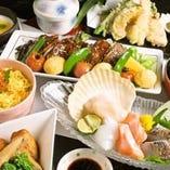 【鍋以外のコースもあるよ♪きらりの和食コース4,800円(税抜)】