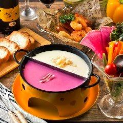 野菜パフェ&バゲット付♪ガーデンファームのとろ~りラクレットチーズフォンデュ