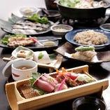 2013年登場の【恵】コースは三陸山田湾の牡蠣の豆乳胡麻味噌鍋がメイン。