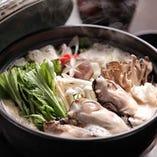 三陸山田湾産の牡蠣の豆乳胡麻味噌鍋が2013年冬に新登場します!【恵】コースで11月1日~食べられるので是非!