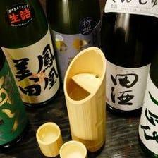 日本酒も自信有り。酒器にもこだわり