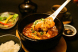 石焼き味噌麻婆豆腐 1、5種海鮮マーボー  2、岩手県産・岩中豚肉マーボー