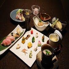 <5月12日~>GWも!【土曜・祝日限定】【彩雅】コース 3種のブランド肉の焼物や鮮魚の寿司等 全10品 8,800円