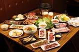 鉄板で焼いたホクホク野菜& 上質お肉の宴会は超ヘルシー!!