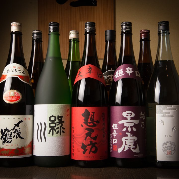 ◆県内12種類の越後の地酒