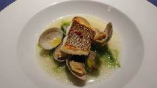 長崎県産鮮魚のソテー アサリとアオサのスープ仕立て