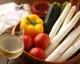 賑わう市場の四季を彩る旬の食材を盛り込んで・・・