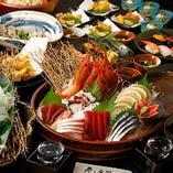 ◇圧倒的お得! 寿司・鮮魚盛り沢山  鮮魚の旨みを舌鼓!宴会コース5,000円~