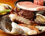 厳選和牛・新鮮海の幸を ひとテーブルごと焼き上げます
