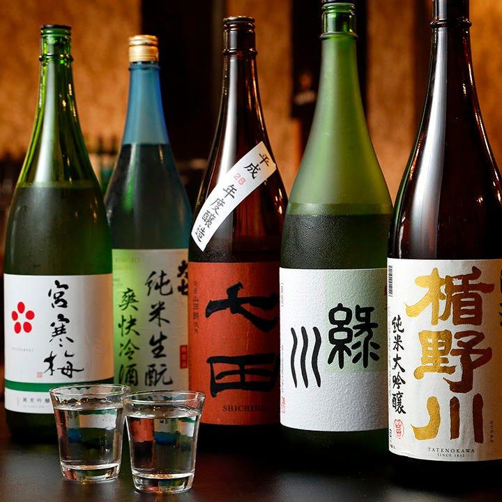 日本酒の品揃えには自信あり!全国40種以上の地酒を常備◎