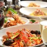 90分飲み放題付 パーティーコース:大皿で楽しむ本格イタリアン