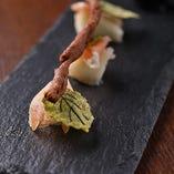 《前菜》洋梨コンポートと生ハム 鶏のパテを添えて ~ 秋の実りをイメージして ~