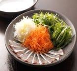 お刺身でもお召し上りいただける、新鮮な海鮮しゃぶしゃぶ