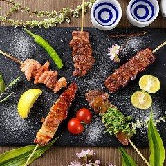 串盛り(塩/タレ/黒胡椒)