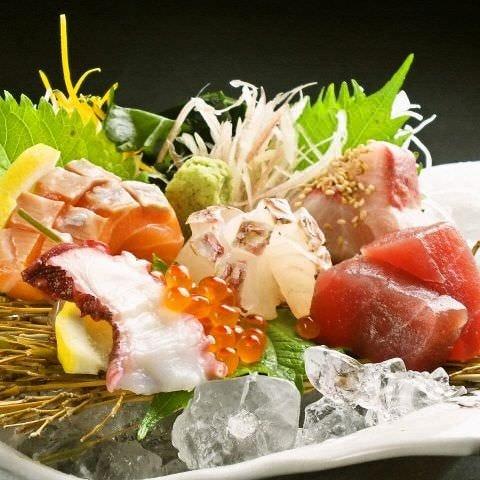 鮮魚は昼網、野菜は市場直送!