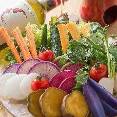 厳選野菜のバーニャカウダ 2種のディップとともに