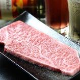国産牛のサーロインステーキなど上質素材も楽しめます!