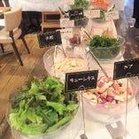 オーガニックカフェ!100%無農薬野菜のサラダディッシュが人気♪