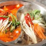 絶品2色鍋 お好きな鍋料理を2つ選択