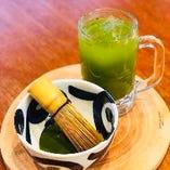 その場でたてる【静岡産本抹茶割り】プレミアムなお茶割りをお楽しみください!