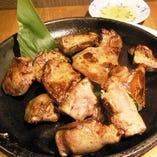 鶏肝の炭火焼