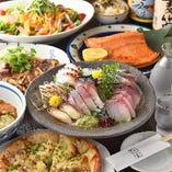 地元食材をふんだんに使った創作料理のコース!!