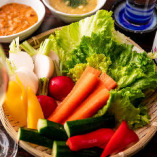 季節の地野菜のざる盛