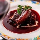 豚バラ肉の赤ワイン煮