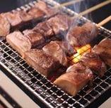 仙台牛タンの串焼き