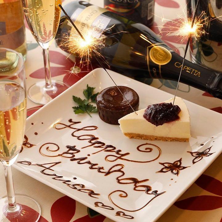 花火付の手作りデザートを誕生日などのお祝いにぜひどうぞ