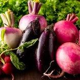 【朝どれ野菜】 産地直送で仕入れる季節の三浦野菜を使用