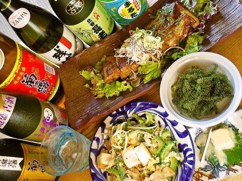 本場の沖縄料理を泡盛で