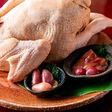 伊達どりの炭火焼きと鶏料理