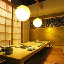 京の風情溢れる、純和風個室