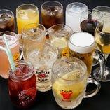 お得な飲み放題をご用意 単品でもご注文可能です