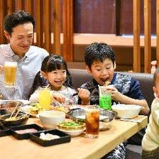 家族で楽しめる食べ放題店