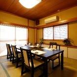 接待やご家族の集まりに最適な個室完備