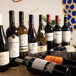 ワインは20種類以上を取り揃え♪日本のワインも多彩にご用意!