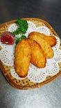 エビすり身のフランスパン揚げ