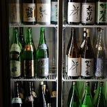 お飲物も多数御用意しております! 日本酒、約30種!