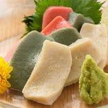 〈半兵衛麩の生麩〉 伝統を守る老舗の味。刺身でご堪能ください