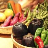 〈季節の京野菜〉 おばんざい、天ぷらなど多彩な調理法でお届け