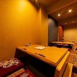 【掘りごたつ席】 フォーマルなシーンにも相応しい完全個室