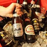 お好きなサイズ、お好きな銘柄を選べるセルフ瓶ビール