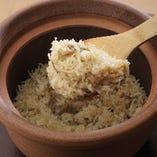 炊き立てをご提供する香り豊かな土鍋飯