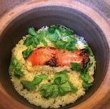 金目鯛の土鍋飯