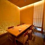 テーブル席完全個室でゆっくり食事をお楽しみください
