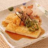 京豆腐ステーキのおろしポン酢